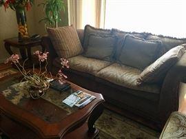 Sofa, end & coffee tables
