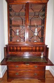 Antique Mahogany English Regency Secretary/Bookcase
