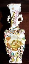 Antique Dresden style Porcelain Vase (as is)