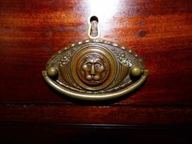 Close Up of Drawer Pull of Secretary/Bookcase