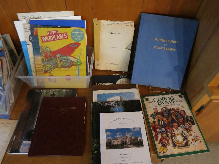 VB&T Items, Pictorial History of Victoria County, 75 Years in Victoria, By Booth Mooney, Copyright 1950 and Other Historical Documents.  Take a look at Flight Warplanes. We also have a Levi Bank and Trust Bank! I can't believe I didn't get it in a picture!