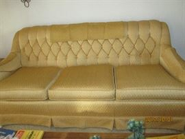 Retro Golden Sofa  By August Lehing