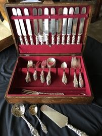 T. BLOSSOM Sterling Flatware, service for 12