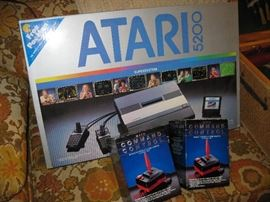 Atari 5200 Game System with 10 Games, Command Control Joy Sticks