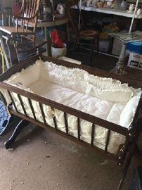 Antique Baby Cradle