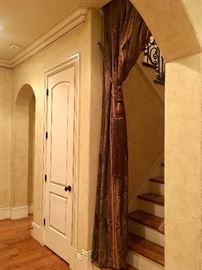 stairwell drapery (heavy fabric)