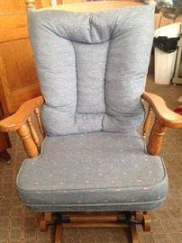 Gliding rocking chair.
