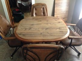 Kitchen table, with extension leaf.