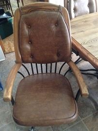 Kitchen chairs - on wheels - six.  Good condition