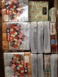 selection of paper napkins, still wrapped, in new condition