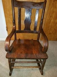 Antique Rocking chair  (no squeeks, no cracks) $60