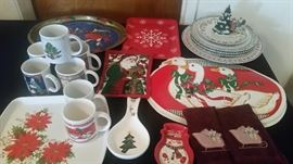 6 tables full of Christmas  (new & vintage)