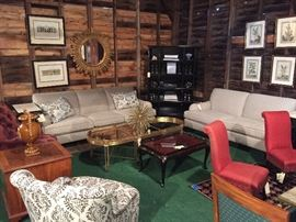 Still available: Baker sofa  & Loveseat  **  Kelly Wearstler Kaleidoscope Star Power  ** chinoiserie coffee table  ** bookcase