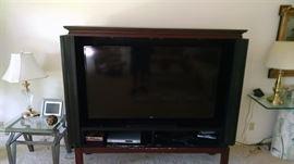 Large TV , TV cabinet