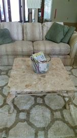 coffee table , area rug