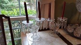Bohemian crystal candlesholders