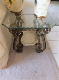 one of a pair of matching side tables