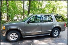 2002 Ford Explorer Limited, 4.6 V8, 117,000 miles. Fully loaded. Leather upholstery. No rust.