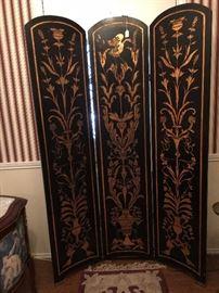 Oriental handcarved screen.