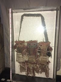 Peruvian Chancay Burial Cloth Dolls Purse in Acrylic $150 (1700's)