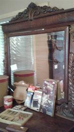 Mirror to dresser, matches Circa 1800 bed