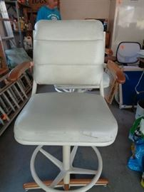 3 of these bar stools, leather seats, I think