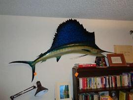 large mounted fish