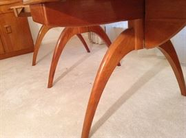 Wishbone Legs on Heywood Wakefield Dining Table
