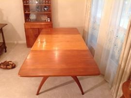 "Heywood Wakefield Butterfly Dining Table 94"" Long with the 2 Leaves"