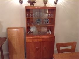 Heywood Wakefield China Cabinet With Stamp