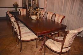 Wood Dining Room Table with 8 Chairs