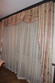 All Drapery throughout