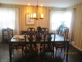 Black DR Parsons Table and Chairs