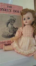Edith The Lonely Doll with First Edition Book. Original Dress and Apron.