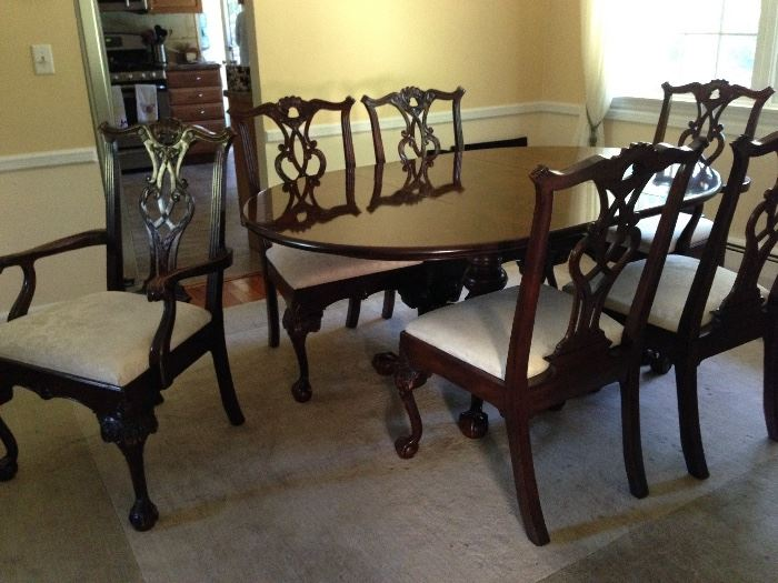 Henredon Rittenhouse Square Dining Table Chairs