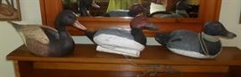Some of the vintage wood duck decoys