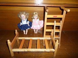 more vintage dolls & doll furniture bunk beds