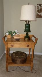 lovely vintage side table from upstate NY