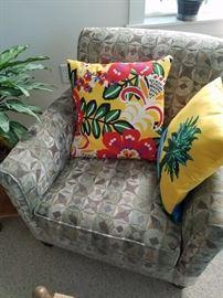 Contemporary Chair - Decorator Pillows