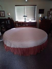 Round bed.