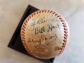 Baseball signed by Harry Caray, Jackie Price, Bill Hart, Enos Slaughter, Red Schoendienst, Joe Gargiola & Dick Sisler