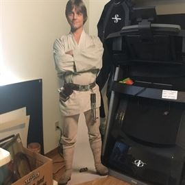 5ft tall stand up of Luke Skywalker