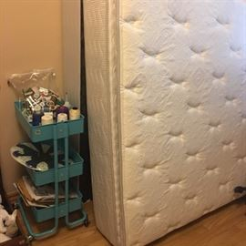Very clean pillow top and fresh. Was a guest bed room mattress..
