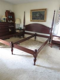 CRAFTIQUE KING SIZE BED.  THIS IS A REALLY NICE FINE QUALITY BED FROM THE EARLY 70'S.  DEFINITE HEIRLOOM QUALITY.  A HONEYMOON MEMORY MAKER FOR SURE.