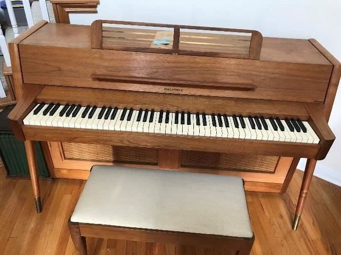 Great Baldwin Mid Century Modern Acrosonic Piano with Original Papers