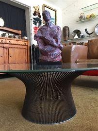 Warren Platner Bronze Color Base Coffee Table.