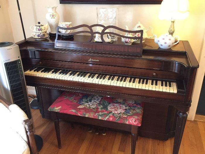 Vintage Baldwin Acrosonic Upright Piano.