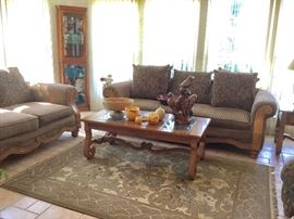 Beautiful Brown Sofa & Loveseat