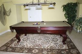 8' Billiard table with Leather Pockets!
