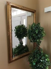 Gold Beveled Mirror
